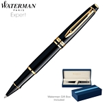 Customized Waterman Expert Black GT Roller Ball Pen