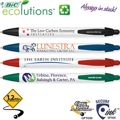 Customized Pens: BIC WideBody Ecolutions Pen Recycled