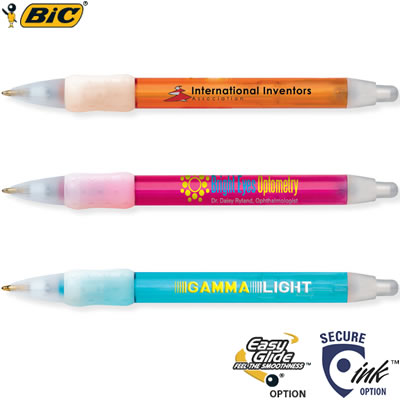 Customized Pens: BIC WideBody Ice with Rubber Grip