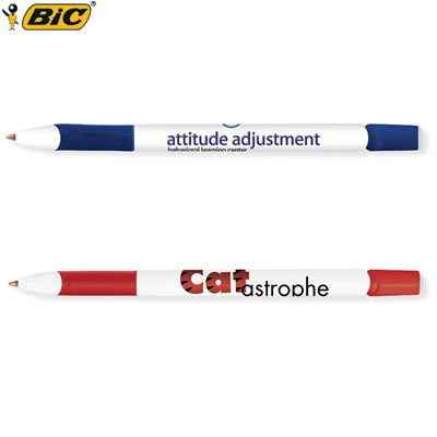 Customized Pens: BIC Media Clic Pen with Rubber Grip