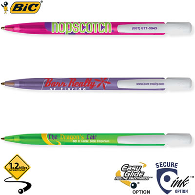 Customized Pens: BIC Media Clic Ice Pen