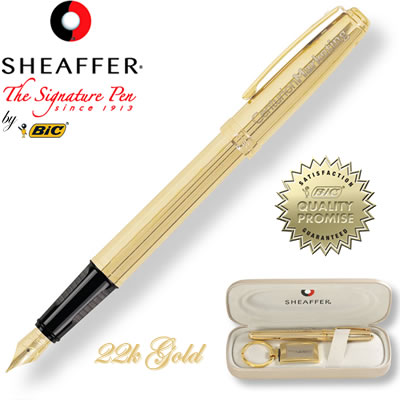 Customized Pens: Sheaffer Prelude Fluted 22K Gold Fountain Pen