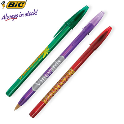 Customized Pens: BIC Style Pen Clear