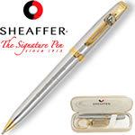 Customized Pens: Sheaffer Prelude Chrome 22K Gold Ballpoint Pen