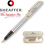 Customized Pens: Sheaffer Prelude Chrome 22K Gold Roller Ball Pen