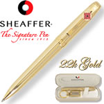 Customized Pens: Sheaffer Prelude 22K Gold Plated Pen