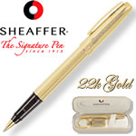 Customized Pens: Sheaffer Prelude 22K Gold Fluted Roller Ball Pen