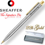 Customized Pens: Sheaffer Sentinel Chrome 23K Gold Ballpoint Pen